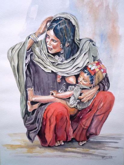 La mère .Femme d'Orient